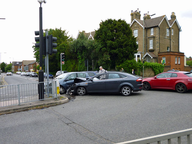 Crash at Traffic Lights